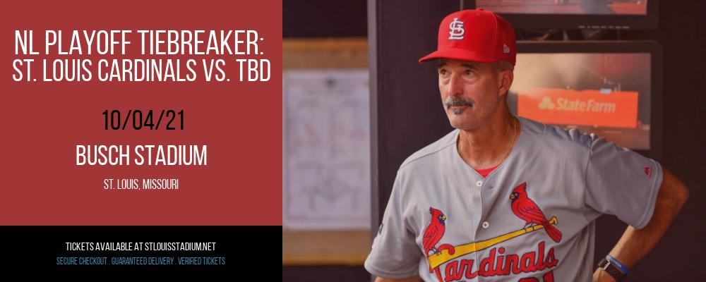 NL Playoff Tiebreaker: St. Louis Cardinals vs. TBD (Date: TBD - If Necessary) [CANCELLED] at Busch Stadium