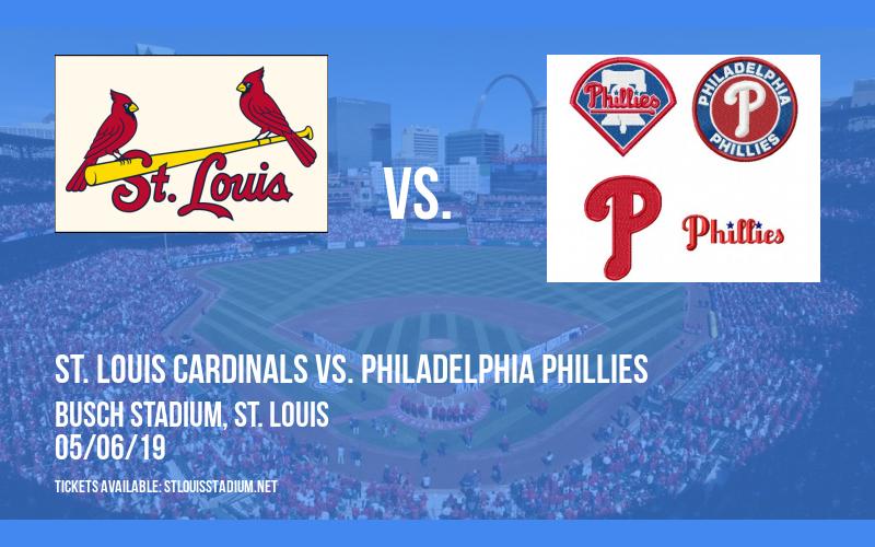 St. Louis Cardinals vs. Philadelphia Phillies at Busch Stadium