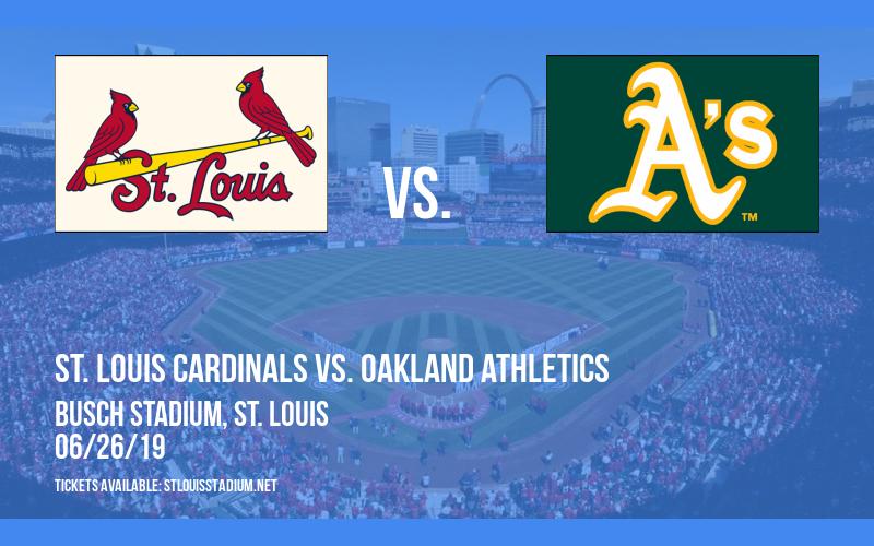 St. Louis Cardinals vs. Oakland Athletics at Busch Stadium