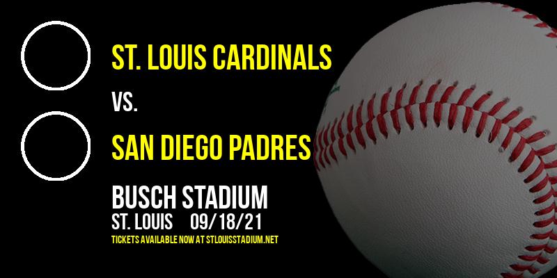 St. Louis Cardinals vs. San Diego Padres at Busch Stadium